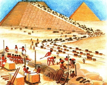 bouw van piramide2