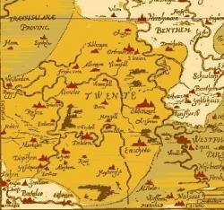 oude kaart twente